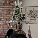 Bicycle Wheel to Hanging Pan Rack