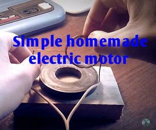 Simple Homemade Electric Motor