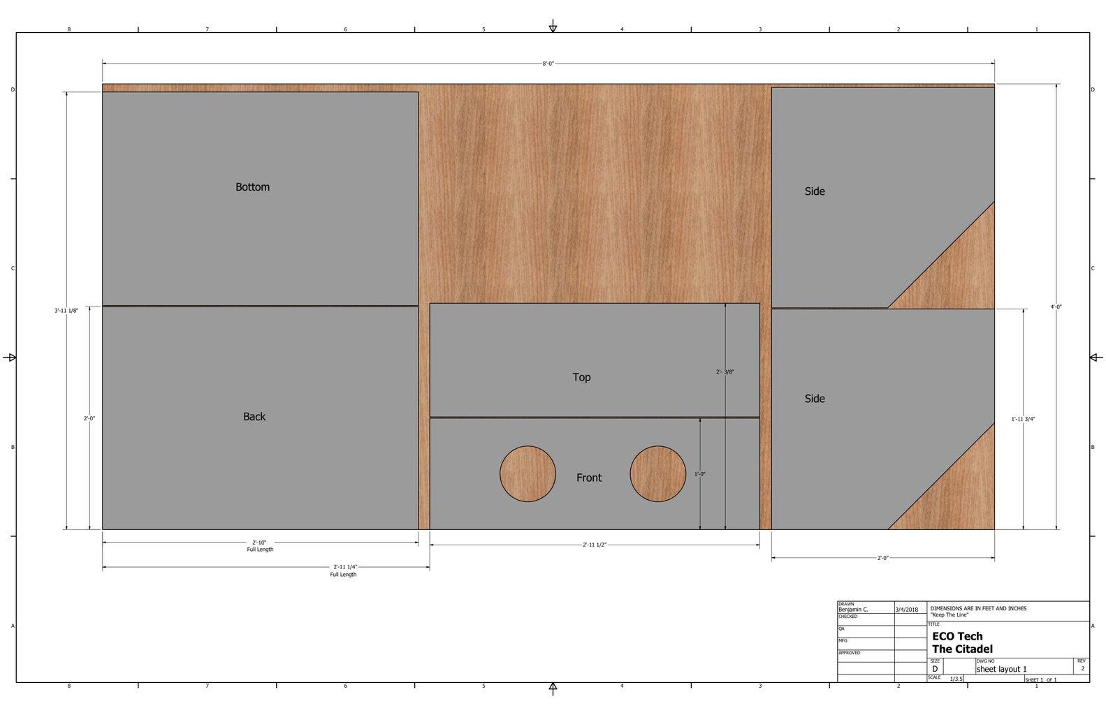 Make Cut Sheet for Plywood