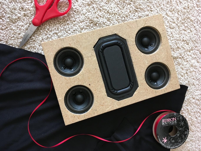 Prepare Speaker Cloth to Cover the Top.