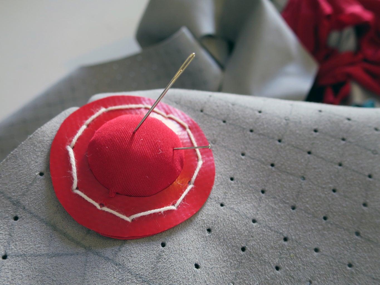 Example: Pegboard Fabric Pincushion