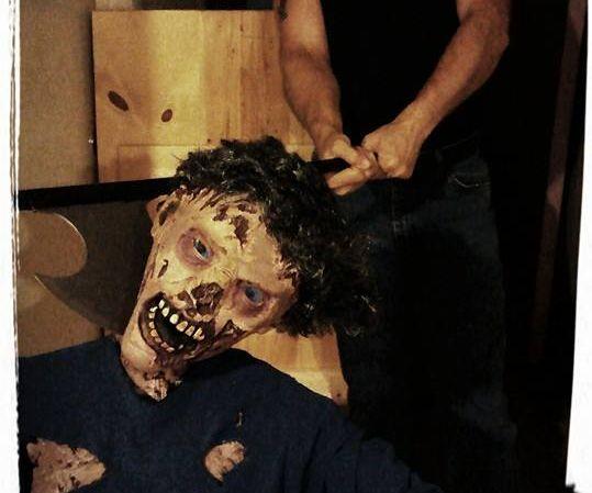 Zombie Prop Head Chop Photo Op
