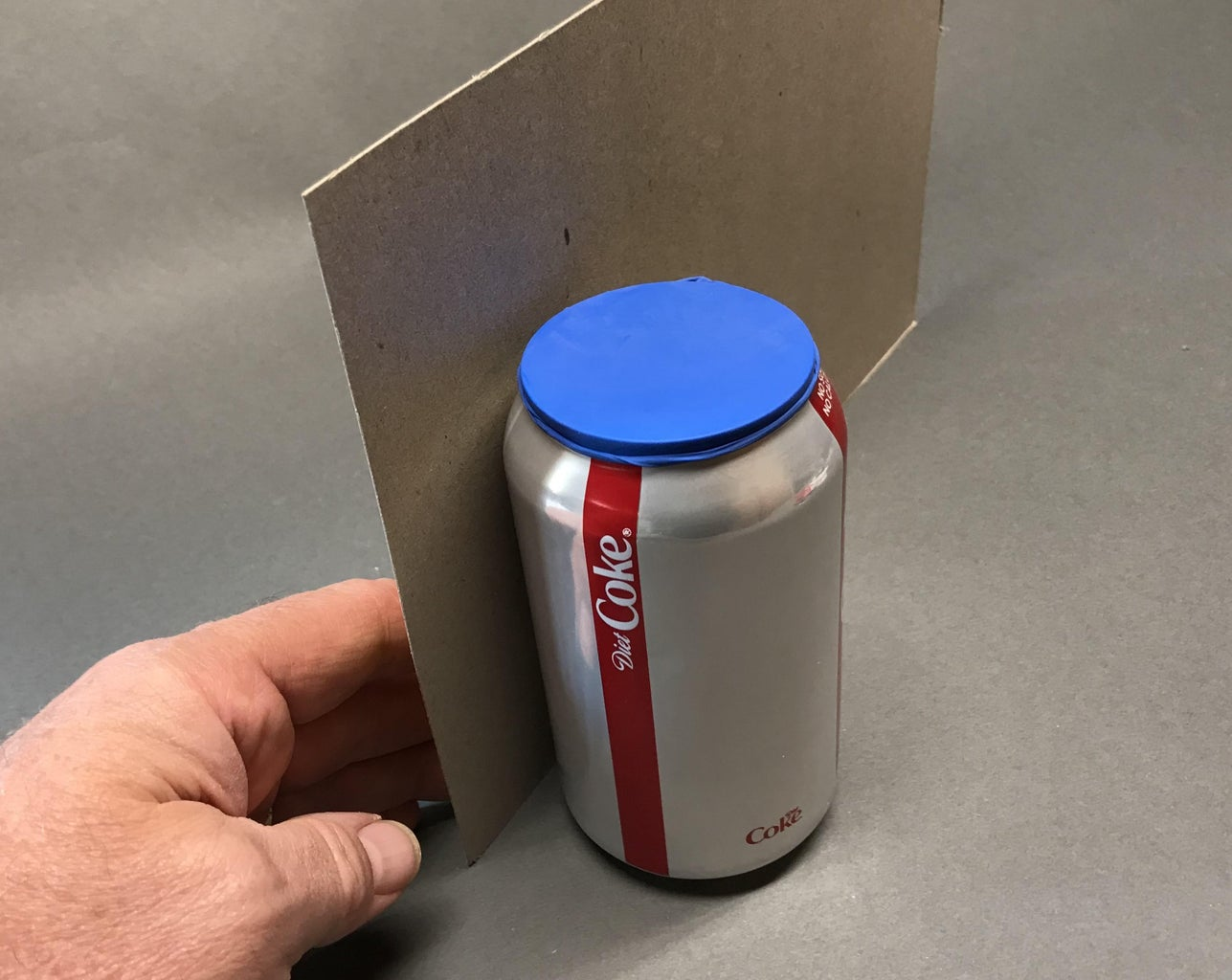 Attach the Coke Can to the Cardboard