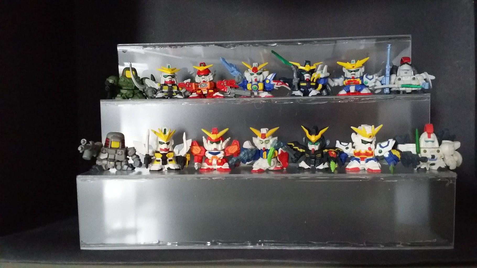 Mini Gundam Gashapon Figures Display Stand
