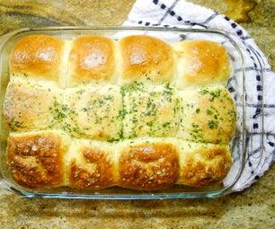 超蓬松的面包卷3种方式:平原,大蒜和椒盐脆饼!