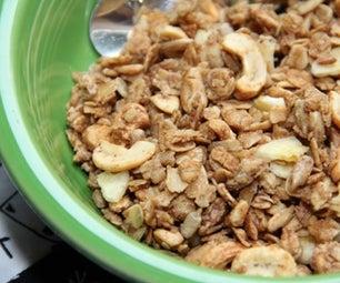 Peanut Butter Cashew Granola