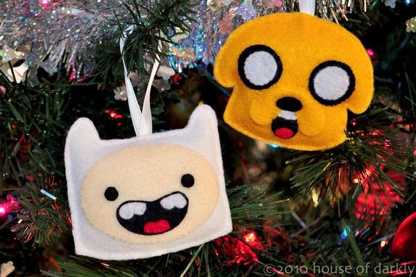 Sew Felt Adventure Time Finn & Jake Ornaments