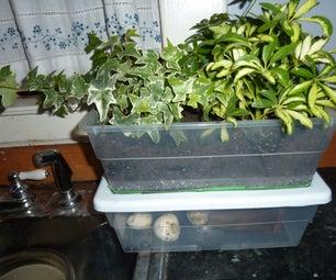 Nice Smelling Hybrid Indoor Compost Bin and Planter