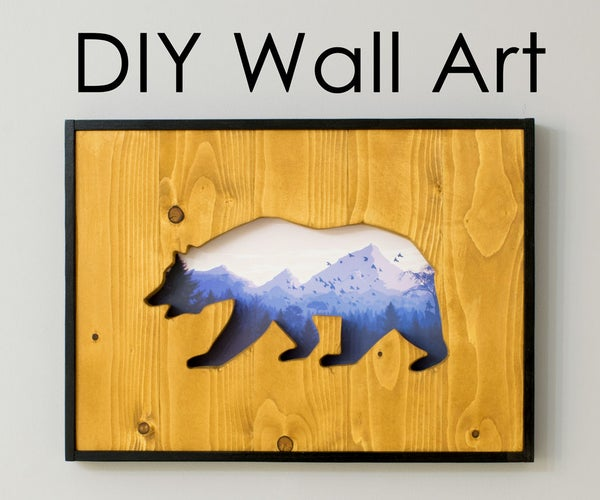 DIY Wall Art: How to Make a Cut-out Into Reclaimed Wood With a Picture Behind