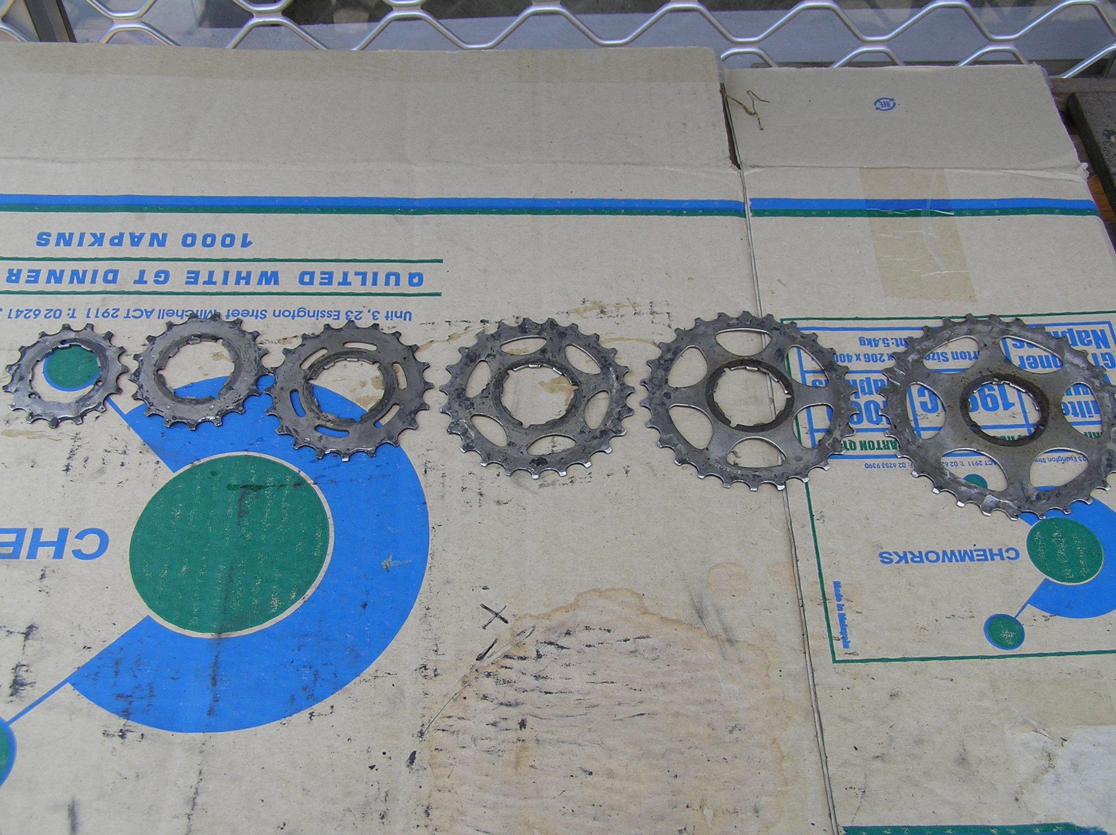 Taking apart a bike's rear cluster