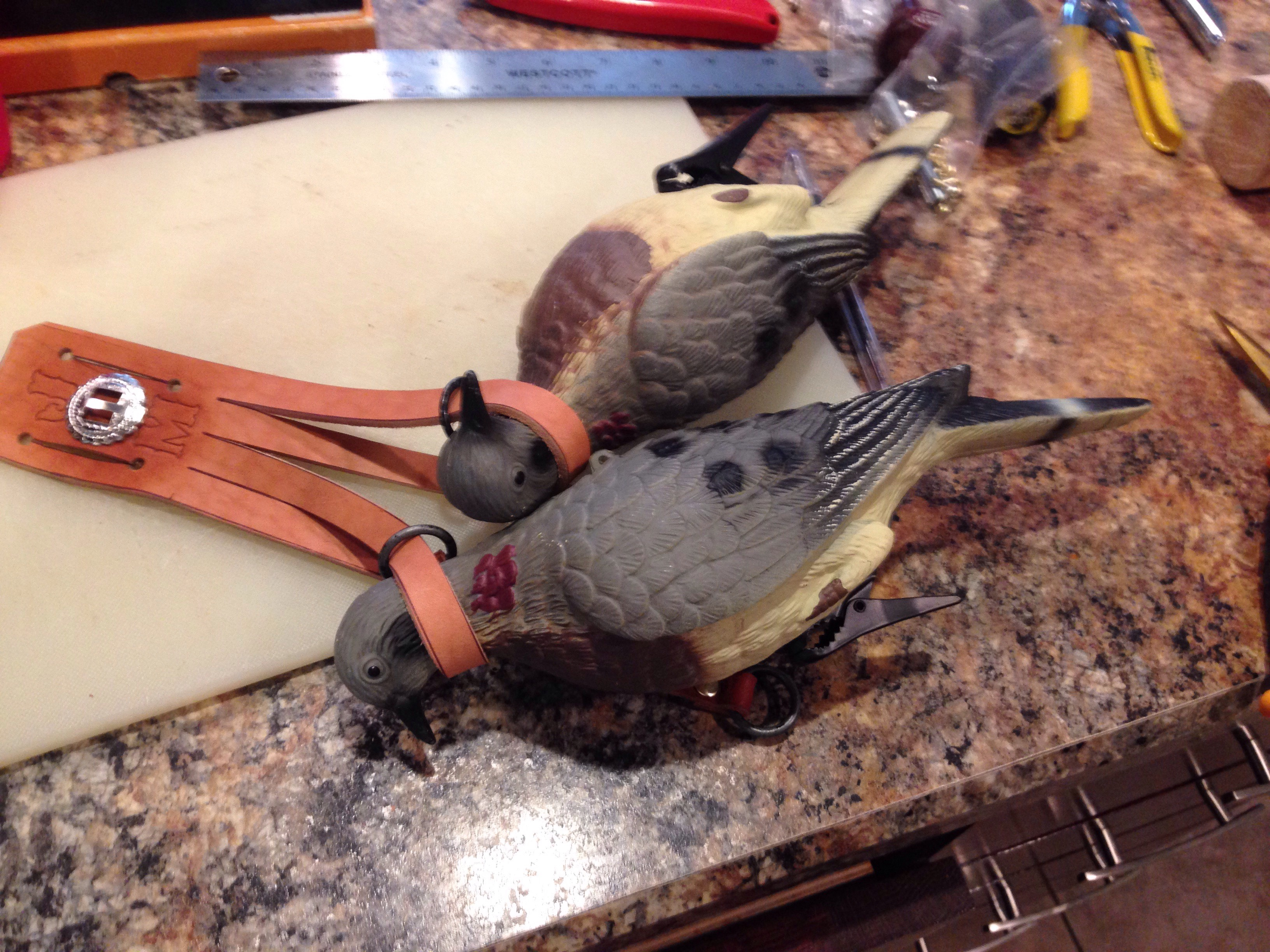 Leather Fowl Game Carrier