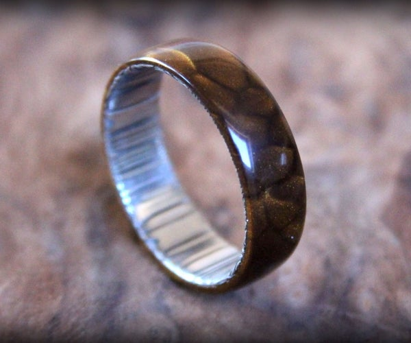 Dragon Skin and Valyrian Steel Ring (Inspired by Game of Thrones)