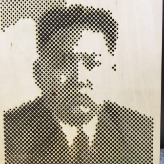 Laser Cutting a Pixel Portrait About Yourself