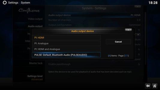 Activate Bluetooth Audio Output