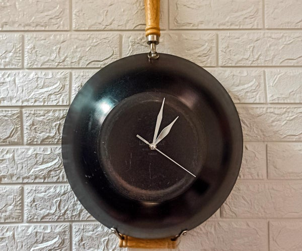 Wok Clock - Turn an Old Pan or Wok Into a Modern Clock