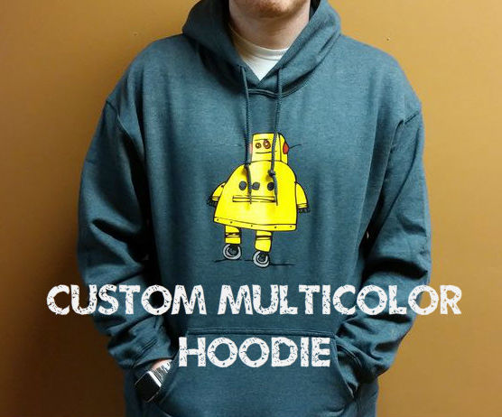 Custom Multicolor Hooded Sweatshirt