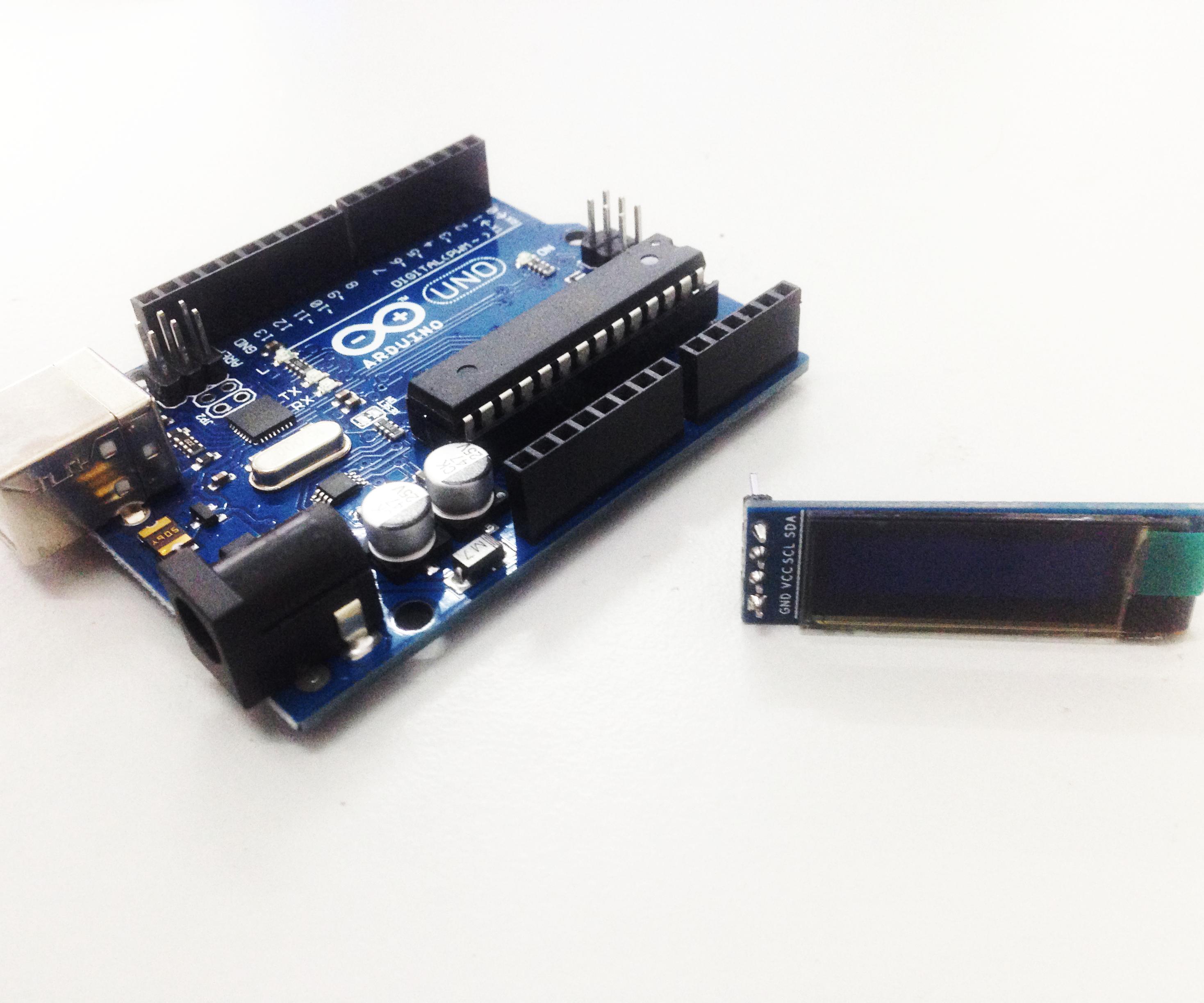 "arduino-compatible Display OLED lcd led 0.91/"" 128x32 12832 blu I2C IIC SSD1306"