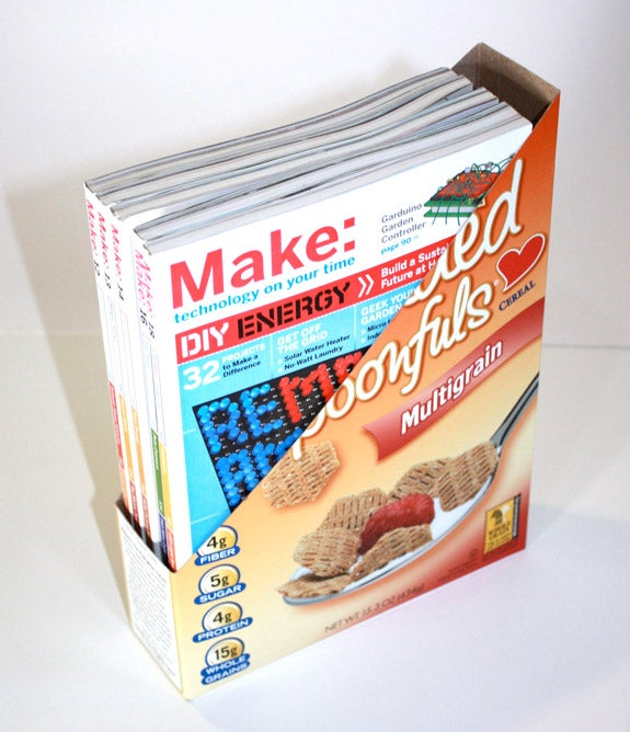 Cereal Box Magazine Holder