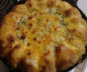 One Pan Spinach Artichoke Dip With Bread!