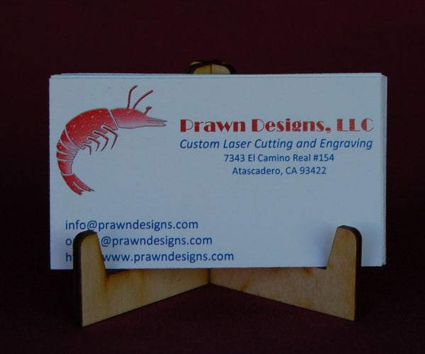 Simple Laser Cut Business Card Holder.