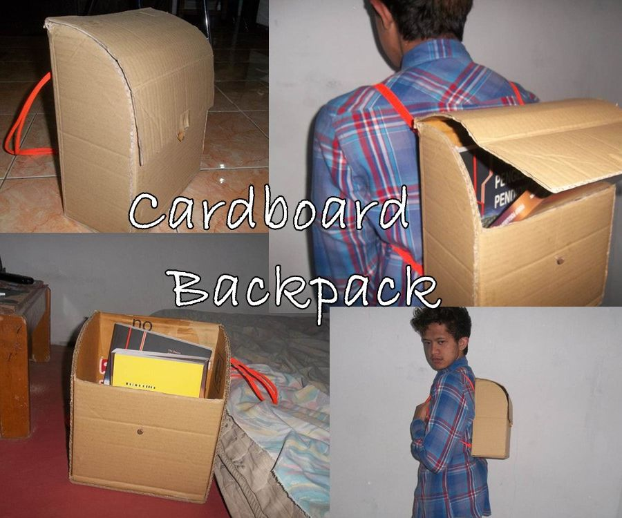 DIY Cardboard Backpack