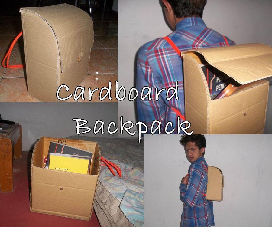 DIY Cardboard Backpack