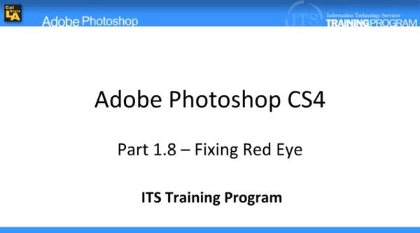 Fixing Red-eye: Adobe Photoshop (1.8)