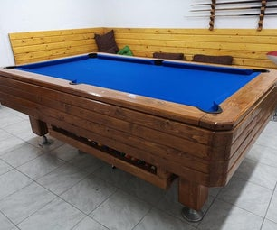 7 Foot Pool Table Restauration
