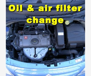Oil, Oil Filter and Air Filter Change on  a Citroen C3 2006-2008