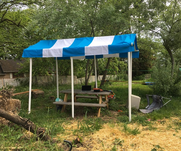 Canopy From PVC Pipe and Canvas