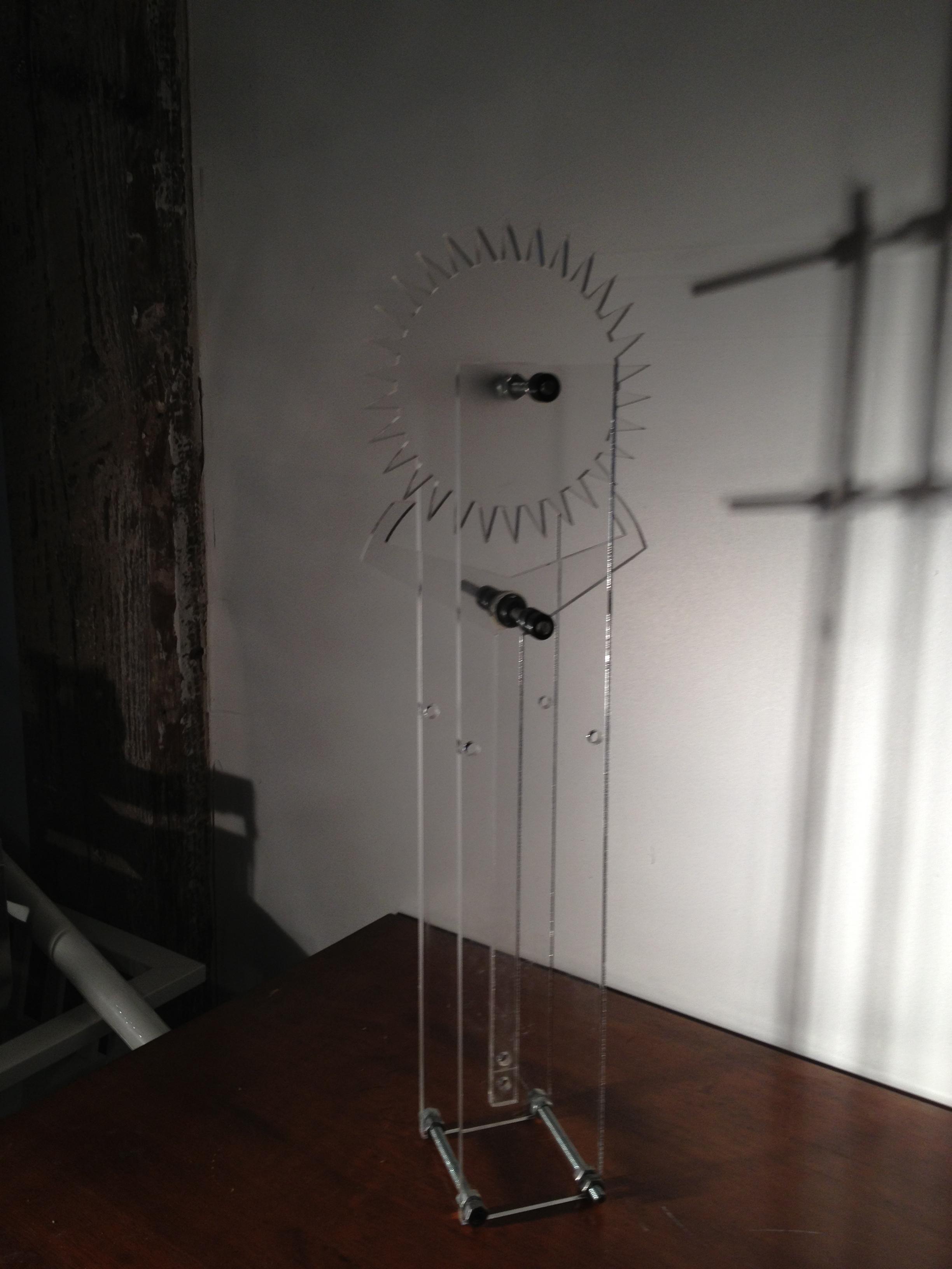 Laser cut Clock escapement and Pendulum