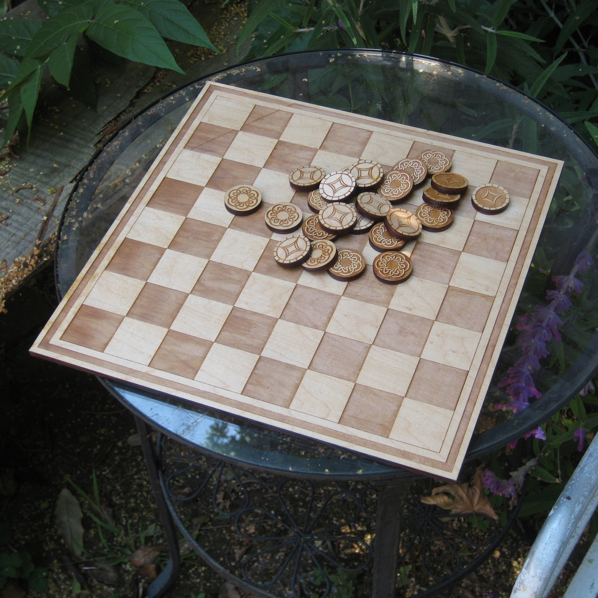 Laser Cut Checker Board