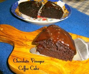 湿润巧克力醋咖啡蛋糕
