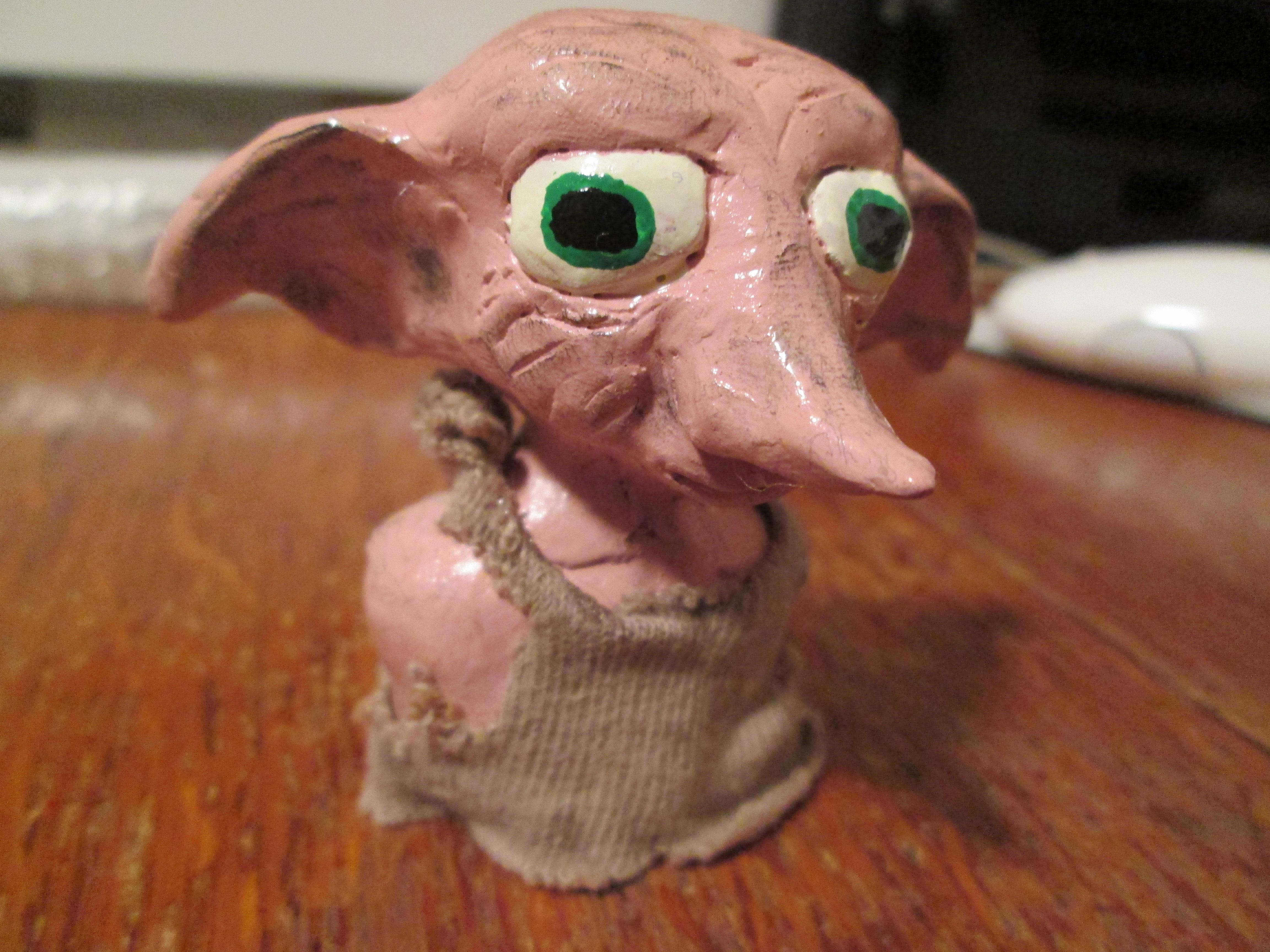 Clay Bust of Dobby the House Elf
