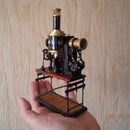 "A miniature model of the ""magic lantern"""