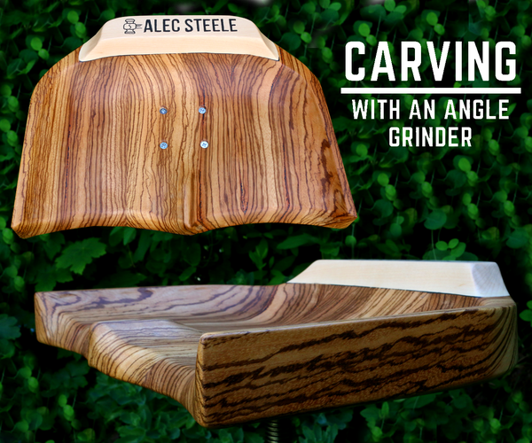 Carving a Workshop Stool With an Angle Grinder for Alec Steele