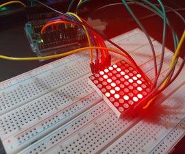 Como USAR UMA PLACA LED矩阵8x8- arduino