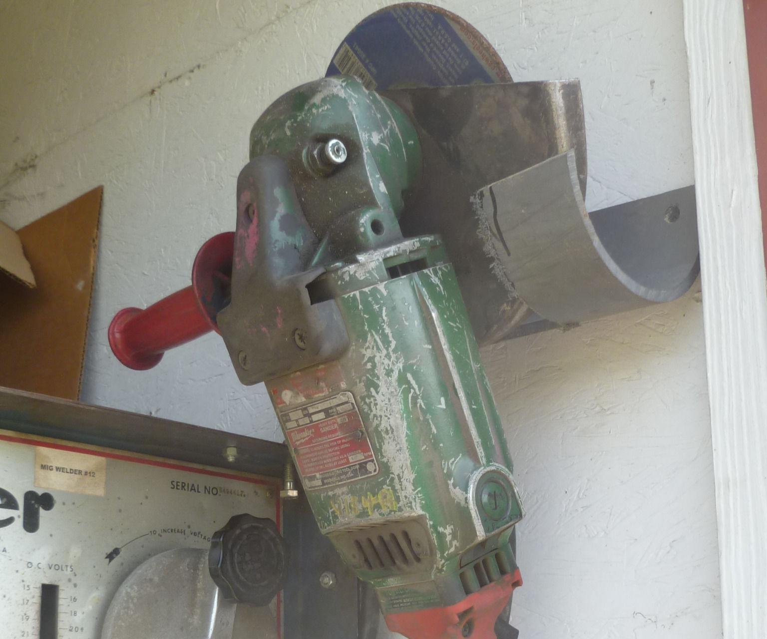 "7"" Angle Grinder Wall Hanger"