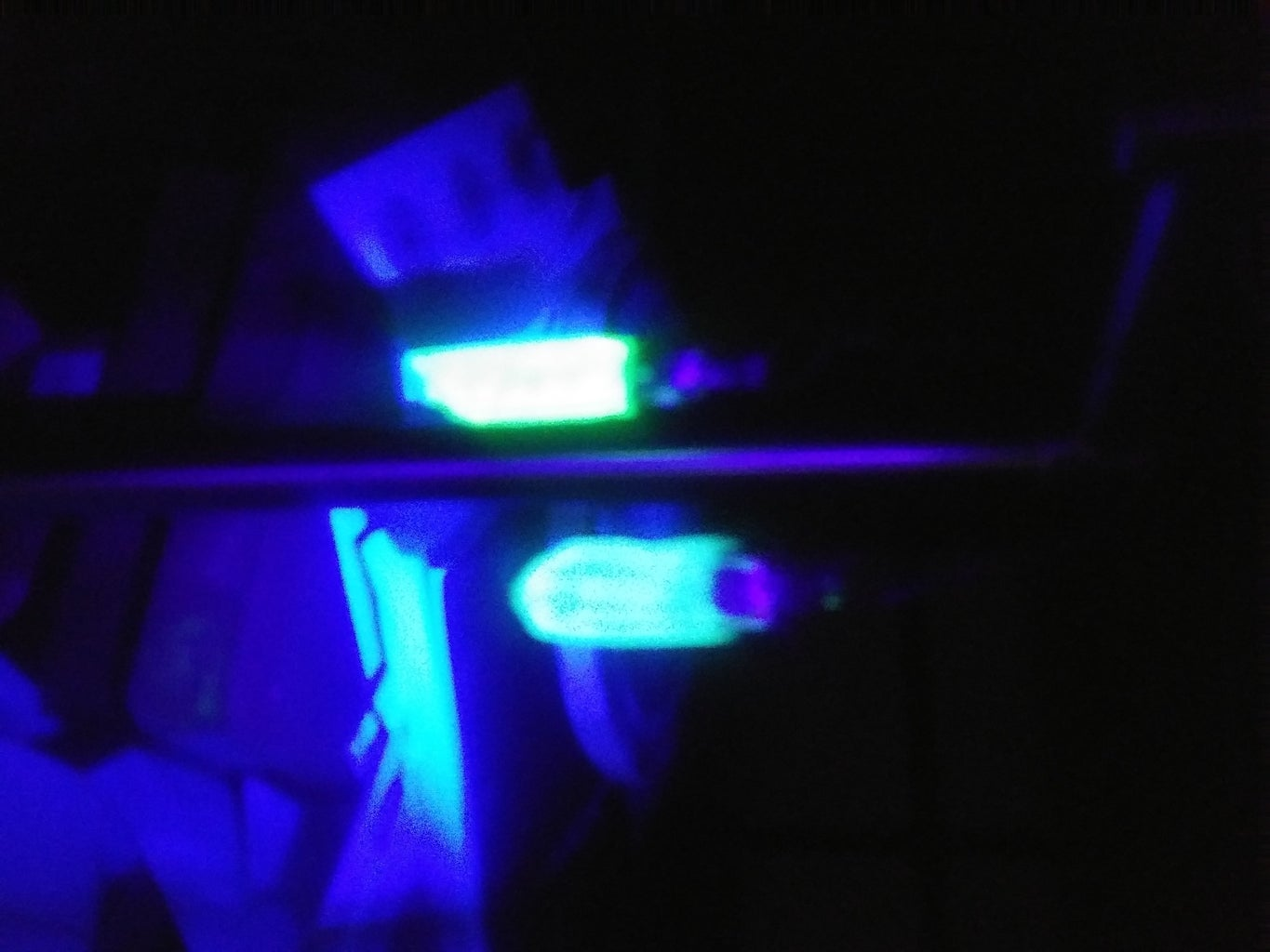 Glow Paint Reacts to Ultraviolet Blacklight As Well.