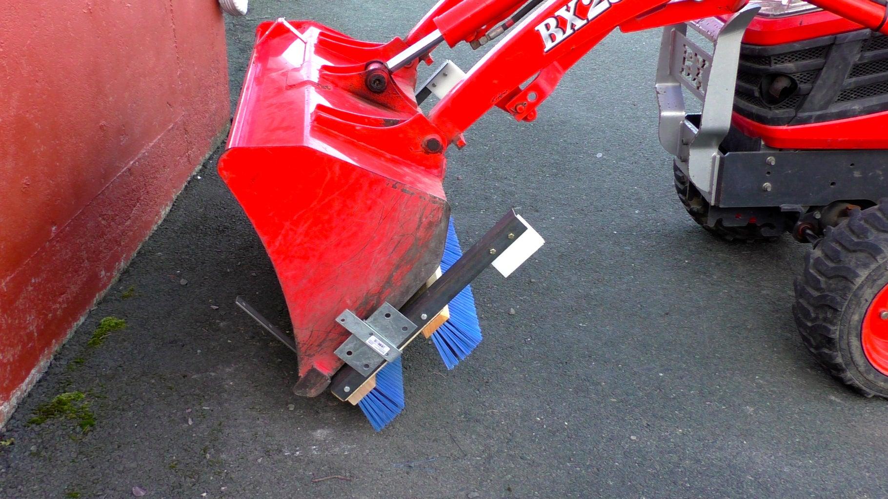 DIY Magnetic Bucket Broom on Kubota BX