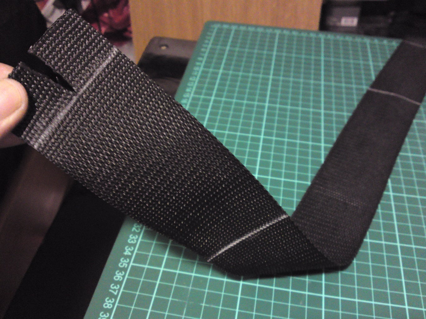 Making the 2 Straps 1st... Then Mark Them Up So They Are Ready for the Velcro...