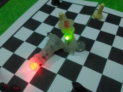 Making Chess Pieces With Hot Glue.