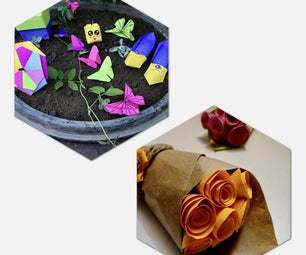 Learn 7 (Origami & Paper) Crafts | Tiny Rose Bouquet Through Easy Instructables!
