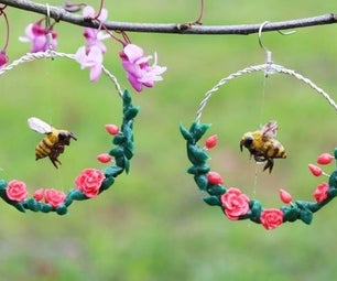 """Magically"" Flying Honey Bee Earrings"