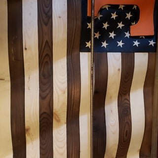 Waving Wood Flag