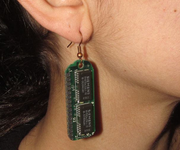 Nerdy Retro-computing Earrings