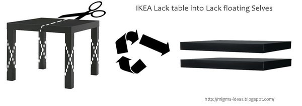 Ikea Lack Table Into Lack Floating Selves!