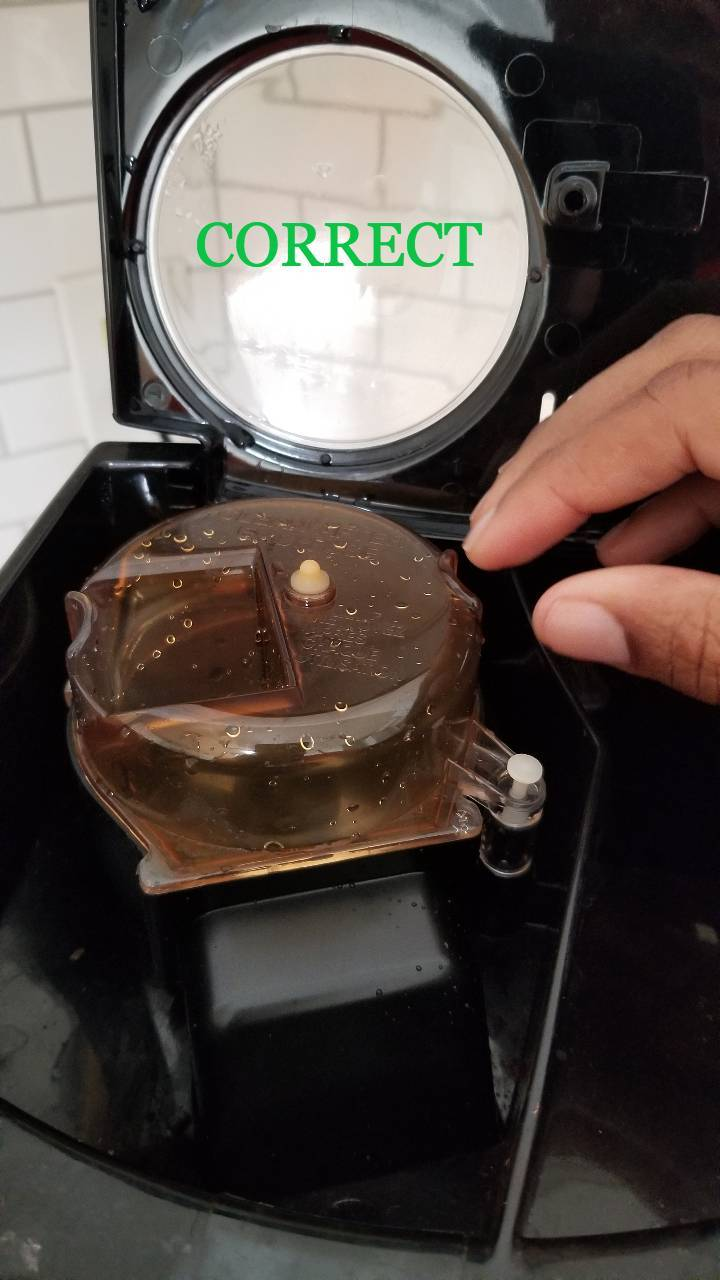 Replace Grinder Top and Close the Top of the Coffee Maker.