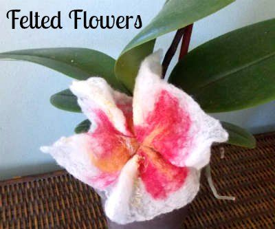 How to Felt Pretty Flowers