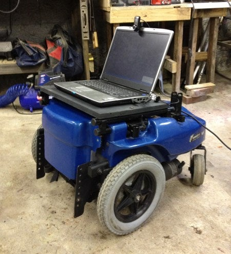 Ultimate UpCycling: $40 Wheelchair Robot